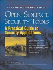 Cover of: Open Source Security Tools | Tony Howlett