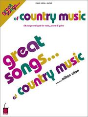 Cover of: Great Songs of Country Music | Milton Okun