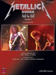 Cover of: Metallica Guitar Riff by Riff, Volume 2 (Riff by Riff) by Adam Perlmutter, Metallica
