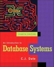 Cover of: An Introduction to Database Systems | C.J. Date