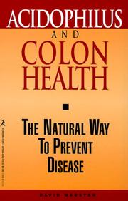 Cover of: Acidophilus And Colon Health