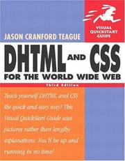 Cover of: DHTML and CSS for the World Wide Web |