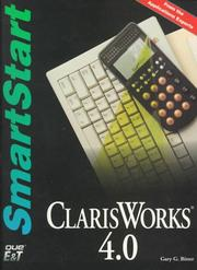 Cover of: Claris Works 4.0 for the Macintosh  | Gary Bitter
