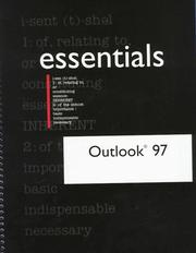 Outlook 97 Essentials (Outlook (Year) Essentials) by Rob Tidrow, Rob Tirow