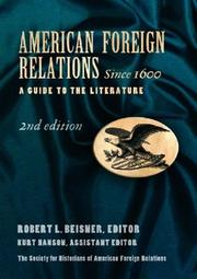 Cover of: American Foreign Relations Since 1600 |