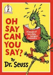 Cover of: Oh say can you say?