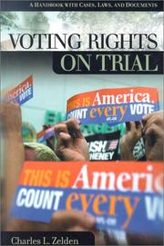 Cover of: Voting rights on trial | Charles L. Zelden