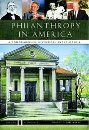 Cover of: Philanthropy in America | Dwight F. Burlingame, editor.