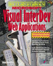 Cover of: Build your own Microsoft Visual InterDev Web applications