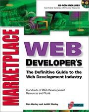 Cover of: Web developer's marketplace