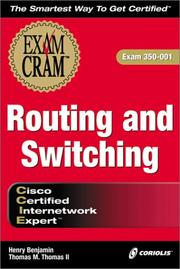 Cover of: CCIE Routing and Switching Exam Cram (Exam: 350-001) | Henry Benjamin, Dmitry Bokotey, Thomas M. Thomas II