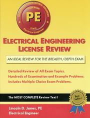Electrical engineering license review by Lincoln D. Jones