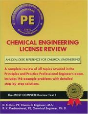 Chemical engineering license review by Das, Dilip K.