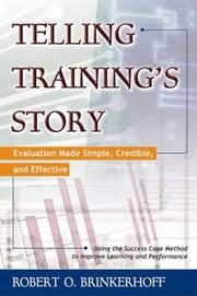 Cover of: Telling training's story