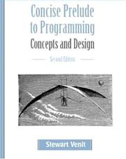 Cover of: Concise Prelude to Programming