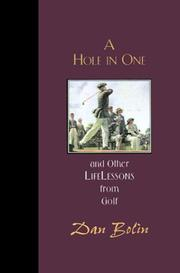 Cover of: A Hole in One and Other Life Lessons Golf