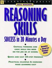 Cover of: Reasoning skills success in 20 minutes a day | Elizabeth L. Chesla