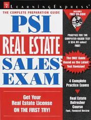 Cover of: Psi Real Estate Sales Ex W/cd | LearningExpress Editors
