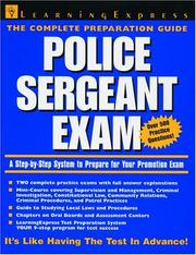 Cover of: Police Sergeant Exam | Michael A. Petrillo