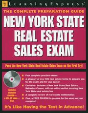 Cover of: New York Real Estate Sales Exam | LearningExpress Editors