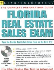 Cover of: Florida real estate sales exam. |