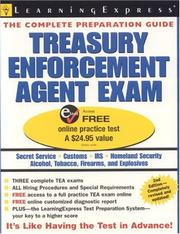 Cover of: Treasury Enforcement Agent Exam, 2nd Edition (Treasury Enforcement Agent Exam) | LearningExpress Editors