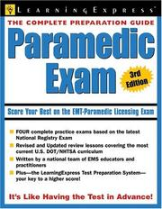 Cover of: Paramedic Exam by LearningExpress Editors