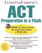 ACT Preparation In A Flash (Act Preparation in a Flash)