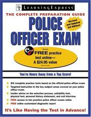 Cover of: Police Officer Exam, 3rd Edition (Police Officer Exam) | LearningExpress Editors