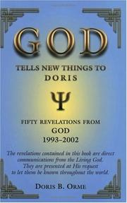 Cover of: God Tells New Things to Doris | Doris B. Orme