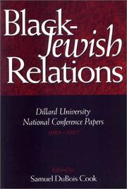 Cover of: Black-jewish Relations | Samuel DuBois Cook