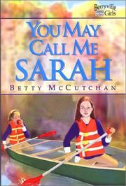 Cover of: You may call me Sarah