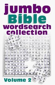 Cover of: Jumbo Bible Word Search Collection Vol. 2 (Jumbo Bible Puzzle Book)