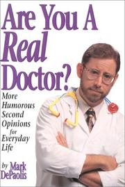 Cover of: Are you a real doctor?