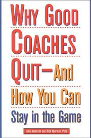 Cover of: Why good coaches quit | Anderson, John R.