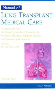 Manual of lung transplant medical care