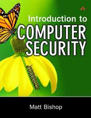Cover of: Introduction to Computer Security