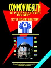 Cover of: Commonwealth of Independent States (Cis) Textile Industry Directory
