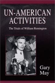 Cover of: Un-American activities