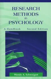 Cover of: Research Methods in Psychology | Wendy A. Schweigert