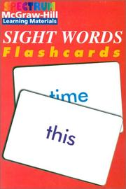 Cover of: Spectrum Sight Words Flashcards (Spectrum Flashcards) | School Specialty Publishing