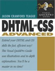 Cover of: DHTML and CSS Advanced