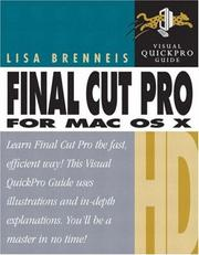 Cover of: Final Cut Pro HD for Mac OS X | Lisa Brenneis