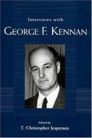 Cover of: Interviews with George F. Kennan