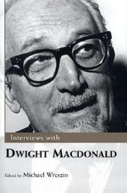 Cover of: Interviews with Dwight Macdonald