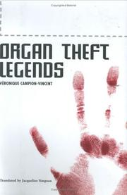 Cover of: Organ theft legends