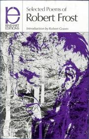 Cover of: Selected Poems of Robert Frost