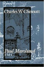Cover of: Paul Marchand F.m.c. | Charles Waddell Chesnutt
