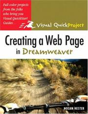 Cover of: Creating a Web page in Dreamweaver | Nolan Hester