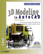 Cover of: 3D modeling in AutoCAD